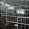 Crowd control steel barriers, portable