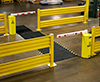 Automated forklift and pedestrian safety gate