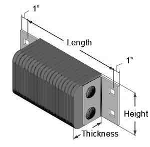 Standard Size Laminated Dock Bumper for Truck Docks