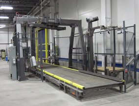 Rotary tower stretch wrap machine