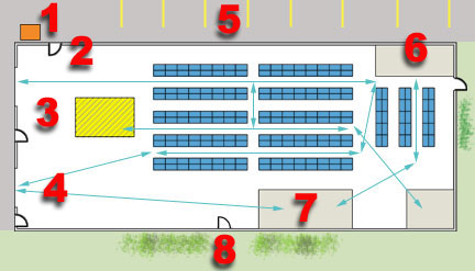 Typical produce warehouse layout pictures to pin on for Draw layout warehouse