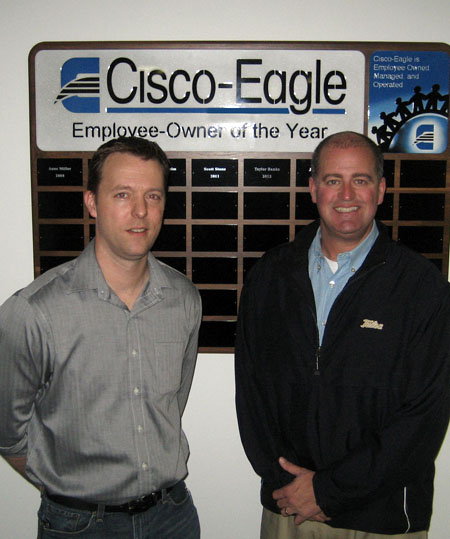 Joel Pason accepts the Cisco-Eagle Employee-Owner of the Year award
