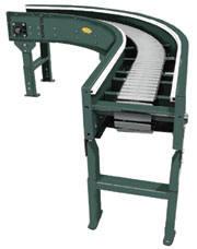 roller-free accumulation curve conveyor