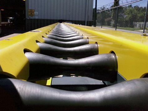 pipe conveyor - bowtie rollers