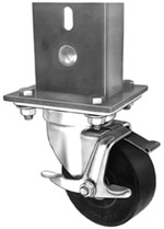 support caster with swivel lock
