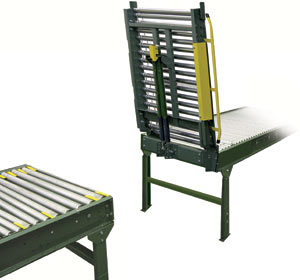powered roller conveyor gate
