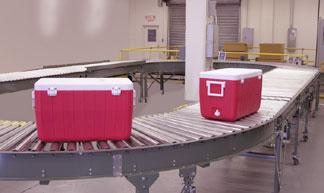 Conveyor test center loop