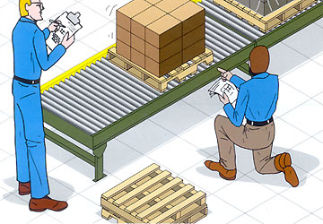 pallet conveyor issues