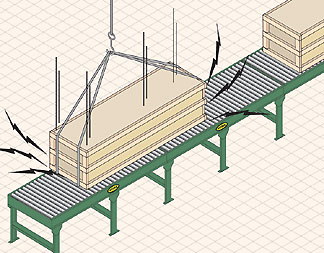 shock loading a conveyor