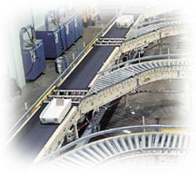 Power Roller Conveyor and Belt System
