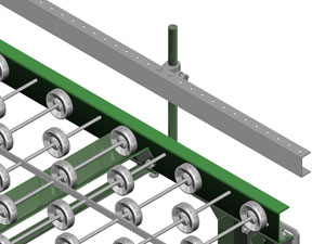 Adjustable Guardrail for Conveyor