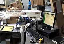 Cluttered Workstation