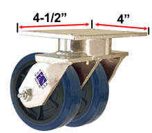 RWM Industrial Caster |65 Series Dual Casters with Wheels