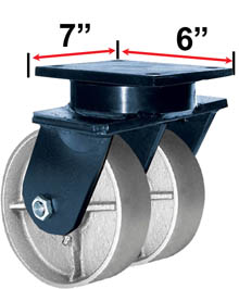 RWM Industrial Caster |85 Series Dual Casters with Wheels