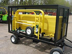 Goliath Mega Cart></li> <li><b>Goliath base storage:</b> Included with the Goliath Mega Cart, these (3) base plate storage racks each hold up to (8) base places. Integrated fork pockets make transport easier.<br/><img src=