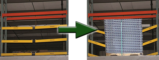 Pallet Picker Safety Gate for mezzanines