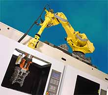 Tool tending robot