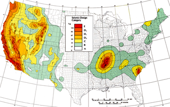 Map Of Arizona Fault Lines.Seismic Zones For Pallet Rack Specification