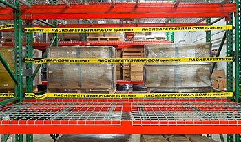 view of Pallet Rack Safetry Straps