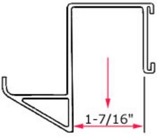 beam dimensions for low profile flow track hanger