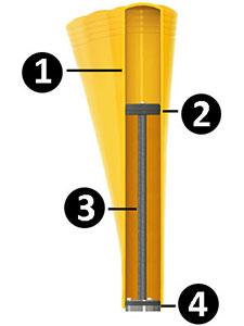 flexible bollard illustration