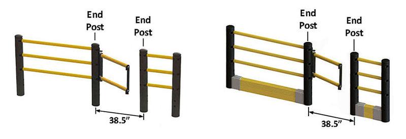 flexible handrail swing gate