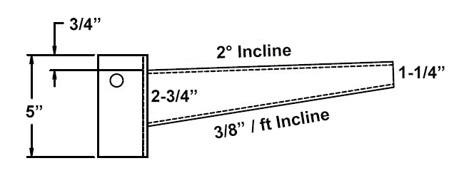 light duty cantilever arm dimensions