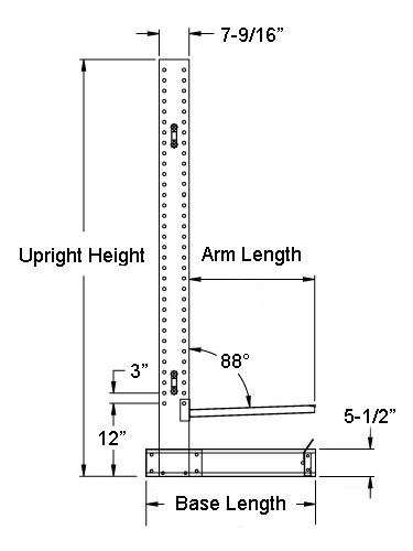 light duty cantilever side view