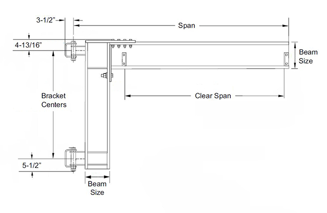 wall mounted cantilever jib crane specs drawing