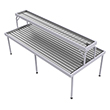 "Two-Tier Flood Table for Growers - 4' x 8' with 1' x 8' Top, 48"" Overall Height"