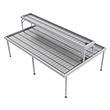 "Two-Tier Flood Table for Growers - 5' x 8' with 1' x 8' Top, 48"" Overall Height"