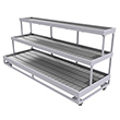 "Mobile Stairstep Flood Table for Growers - 8'W x 3'D with 2'D and 1'D Levels, 48""H"