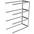 "Long Span Shelving, 60"" x 36"" x 84"" No Decking, 900 Lbs. Cap., Adder"