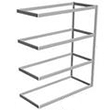 "Long Span Shelving, 72"" x 24"" x 84"" No Decking, 600 Lbs. Cap., Adder"