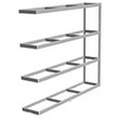 "Long Span Shelving, 96"" x 24"" x 84"" No Decking, 1000 Lbs. Cap., Adder"
