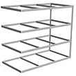 "Long Span Shelving, 96"" x 30"" x 84"" No Decking, 500 Lbs. Cap., Adder"