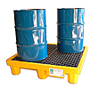 4-Drum High Capacity Spill Containment Pallet - 6,000 lb., 66 gal., with Drain
