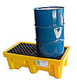 2-Drum High Capacity Spill Containment Pallet - 3,000 lb., 66 gal., No Drain