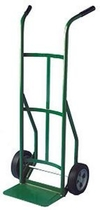 Steel Hand Truck with double-grip handle, semi-pneumatic wheels