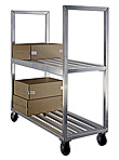 "Aluminum Shelf Truck - 2 Aluminum Shelf, 27""W x 71""H x 63""L"