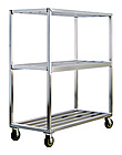 "Aluminum Shelf Truck - 3 Aluminum Shelf, 27""W x 71""H x 63""L"
