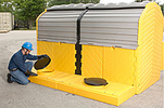 Modular IBC Spill Pallet - 2-Tank, Outdoor Model