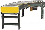 "Accumulation Conveyor - 90 Degree Curve, 18""W - 1.9"" Rollers"