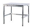 "Stainless Steel Topped Table - 24""D x 34""H x 48""L"