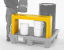Self-Draining Stacking Shelf for Spill Pallet - Yellow