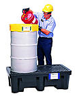 Economy 2-Drum Spill Containment Pallet - No Drain, Black