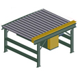 "Powered Pallet Conveyor - 2.5"" Rollers, 50-1/4"" wide x 5' long"