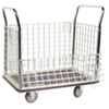 "4 Sided Wire Panel Truck with Removable Sides - 23"" x 35"" - 660 lb. Cap."