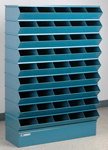 "Sectional Bin Storage, 45 Compartment, 37""W x 13""D x 54""H"