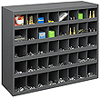 "Small Parts Cabinet with 40 Sloped Bins - 33-3/4""W x 12""D x 23-7/8""H"